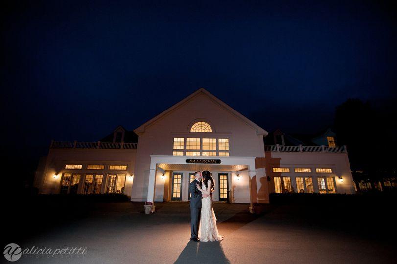Couple in front of the Chocksett Inn
