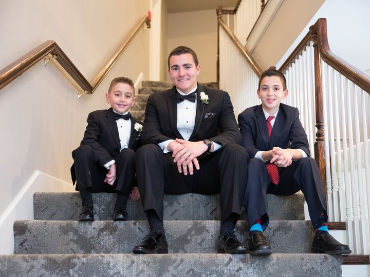 Tmx 1510686886168 Groomsmen And Ring Bearer Sitting On Foyer Stairs Sterling, MA wedding venue