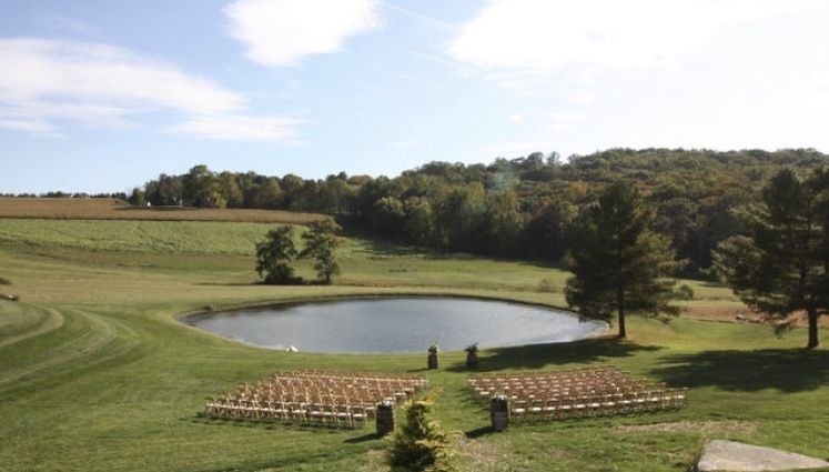 Outdoor wedding ceremony space