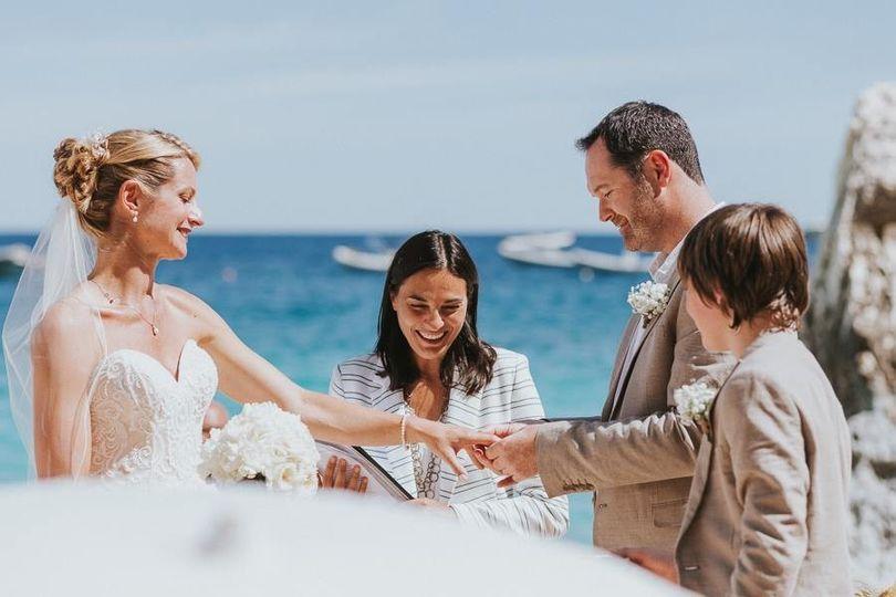 Beach wedding in Sardinia