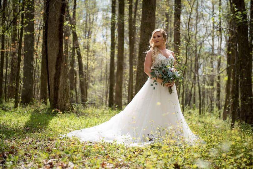 Bride in the wild