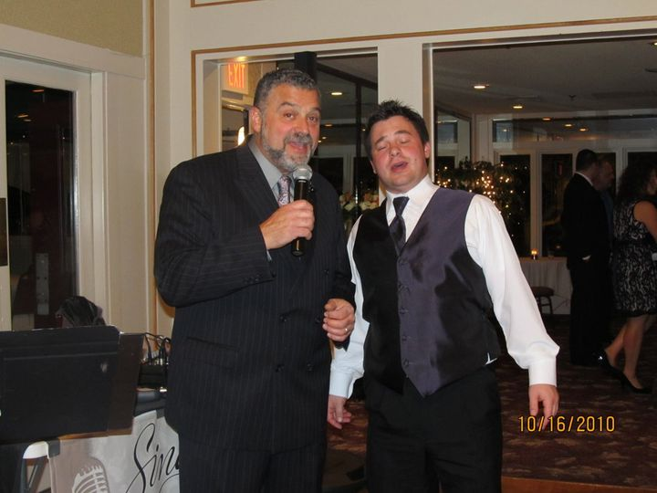Groom and the singer duet