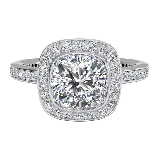 Ritani	19850		Octagon Pave Diamond Engagement Ring in Platinum (0.10 CTW) for a Round Center...