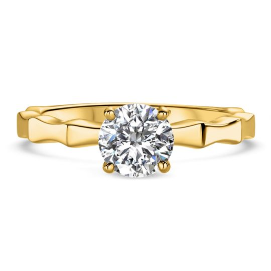 Ritani	19846		Octagon Solitaire Engagement Ring in 18kt Yellow Gold for a Round Center Stone