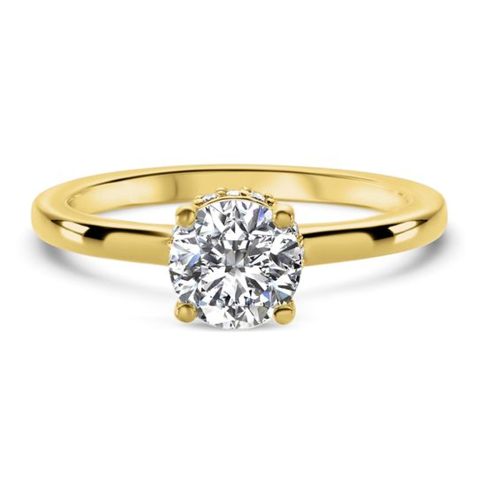 Ritani	19835		Eight-Prong Tapered Diamond Engagement Ring in 18kt Yellow Gold (0.22 CTW) for a...