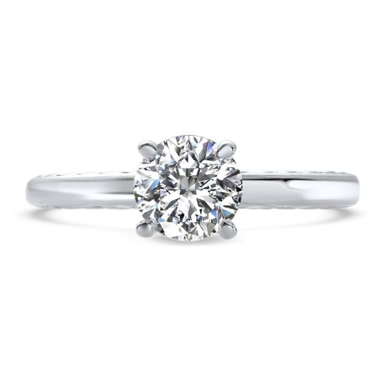 Ritani	19821		Engraved Solitaire Engagement Ring in Platinum for a Round Center Stone