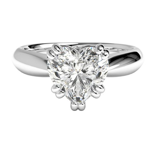 Ritani	17992		Solitaire Diamond Tulip Cathedral Engagement Ring in Platinum for a Heart Center...