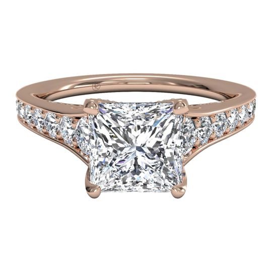 Ritani	12768		Tapered Pave Diamond Band Engagement Ring in 18kt Rose Gold (0.48 CTW)