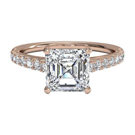 Ritani	12695		French-Set Diamond Band Engagement Ring in 18kt Rose Gold (0.23 CTW)