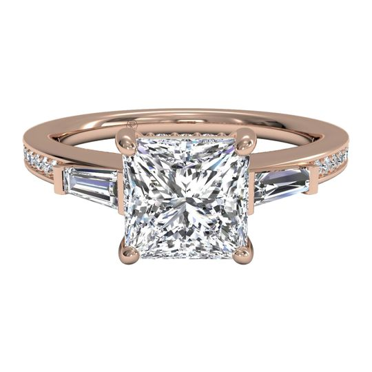 Ritani	12614		Tapered Baguette Diamond Band Engagement Ring in 18kt Rose Gold (0.39 CTW)