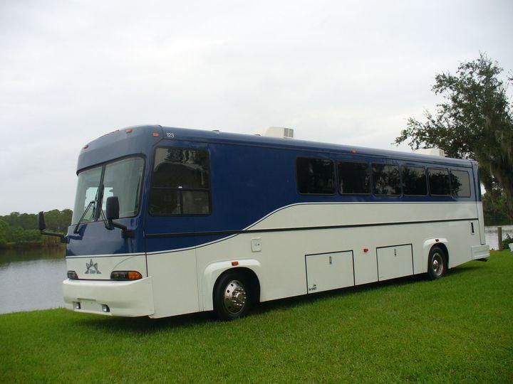 Tmx 1403625479159 Super Limo Party Bus Exterior 1 Alva wedding transportation