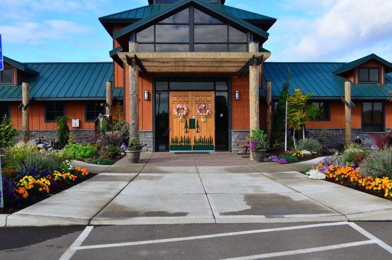 Philomath Scout Lodge Entrance