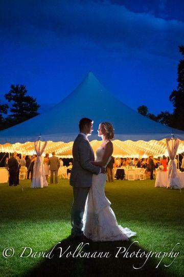 wedding night photo blue sky romantic moraine farm