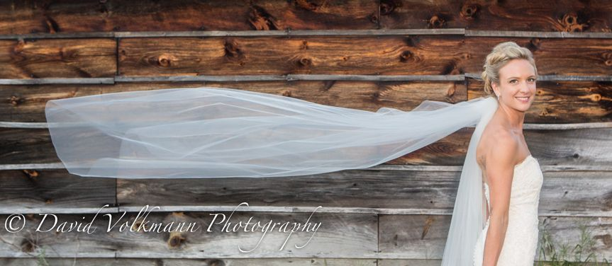 bride veil wind happy