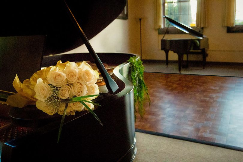 Flowers by the piano