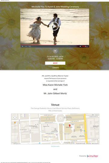 john karen wedding video invitation