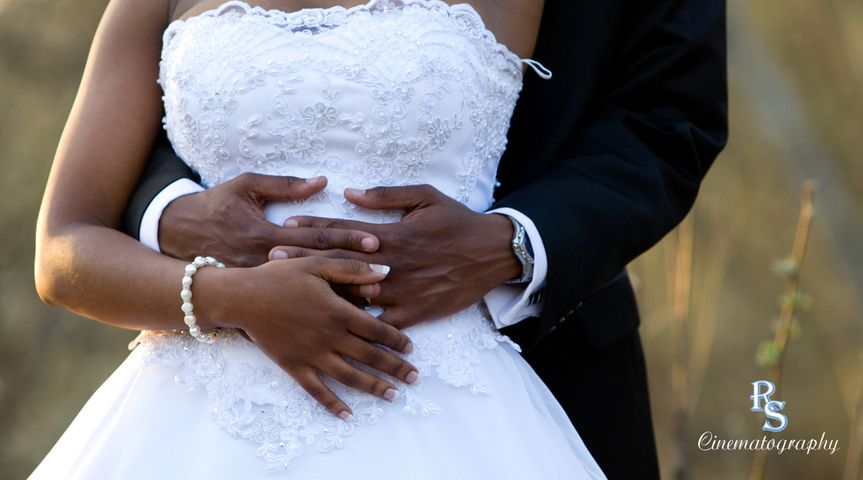african american bride and groom cropped