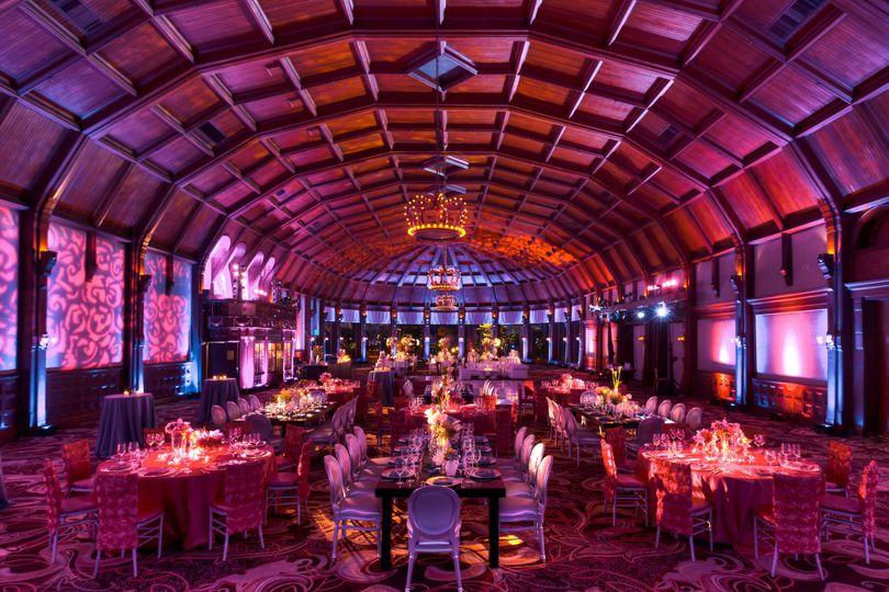 Reception in the Crown Room at Hotel del Coronado
