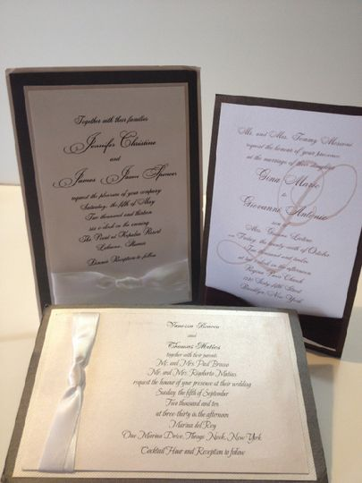 Traditional and classic invitations.