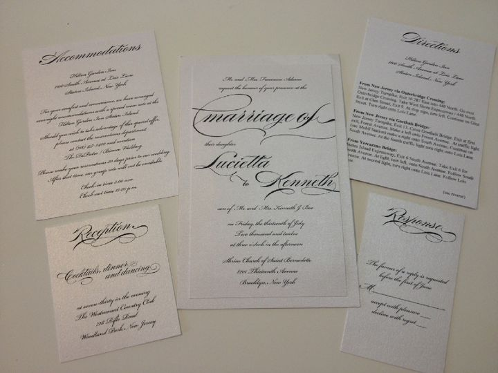 Classic black and white invitations with a dramatic eye catching font.
