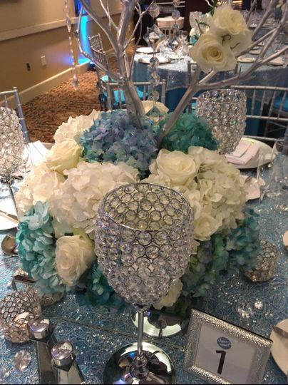 Crystals, Hydrangeas