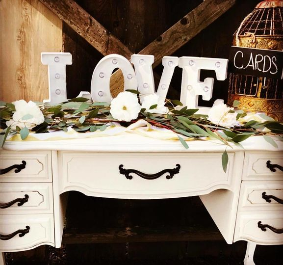 Love cards table