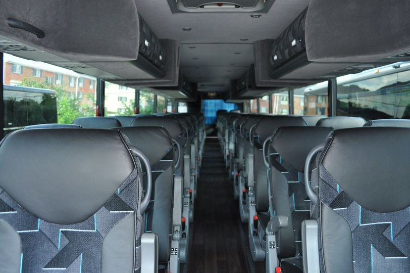 56 Passenger Coach Bus Interiors