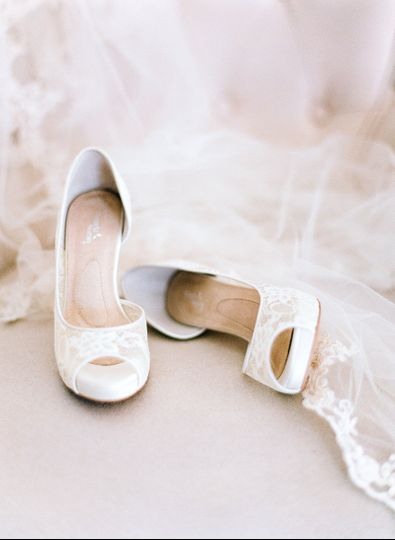 "Our exclusive Angela Nuran ""Serafina"" French Lace wedding shoes"