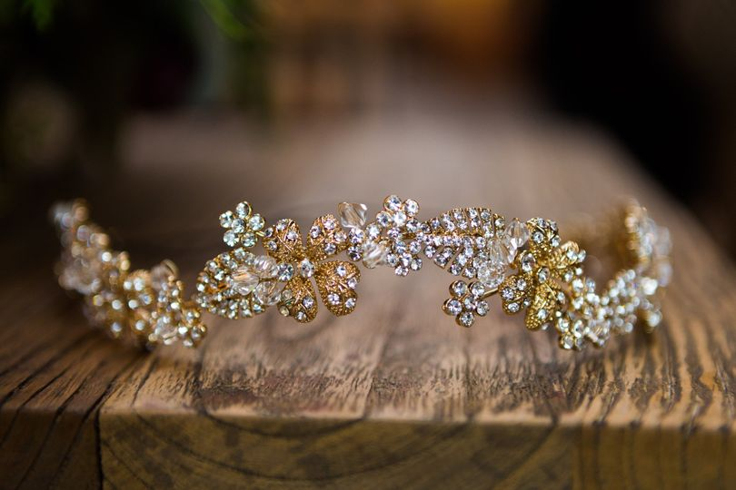 A melange of silver and gold. This headpiece can also be worn across the waist as a sash!