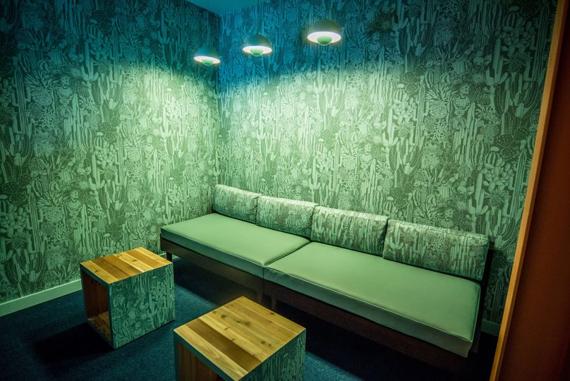 Inside the private karaoke rooms