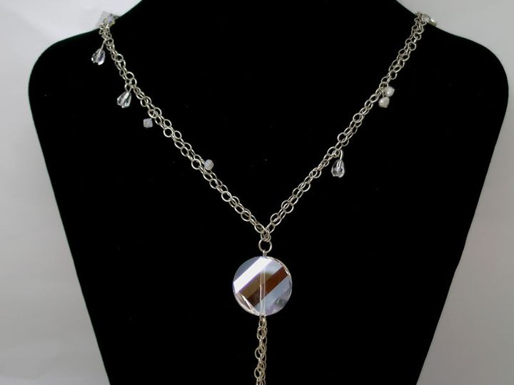 Tmx 1415193639448 Sterling Crystal And Pearl Chained Necklace Mogadore wedding jewelry