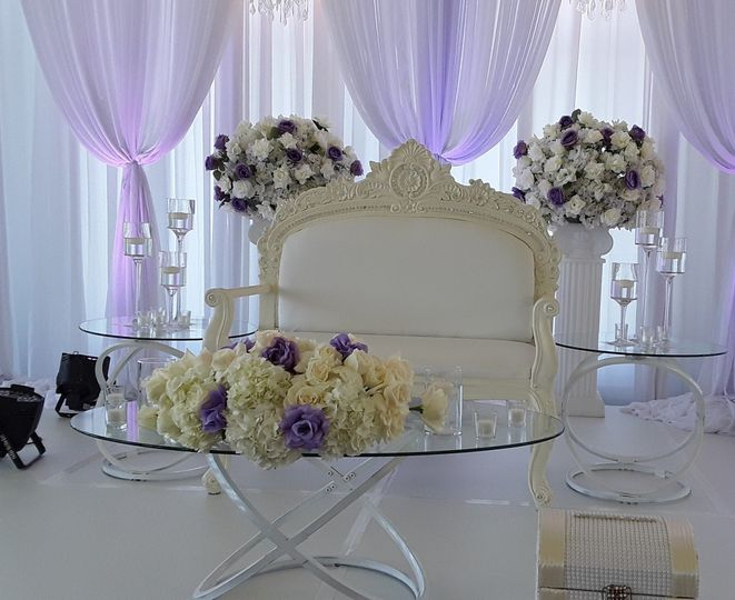 Head Table for Bride and Groom