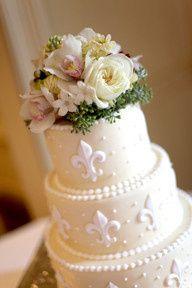 White rose cake topper