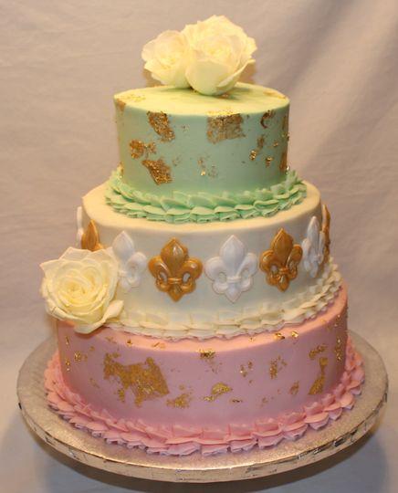 Golden NOLA Cake