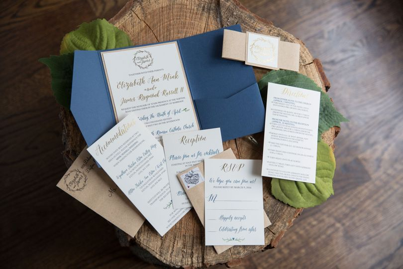 Custom Pocket Invitation