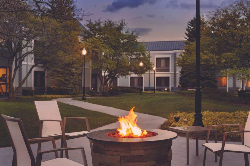 courtyard at night pr