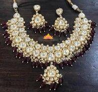 Tmx Maroon Sabyasachi Necklace 51 948750 1569615994 Sterling Heights wedding jewelry