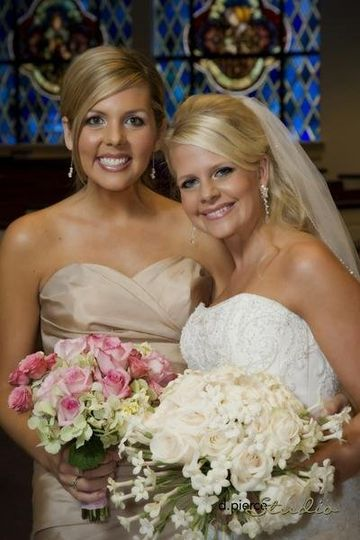 Bride and her bridesmaid