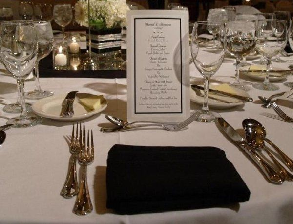 """Opulent table settings, warm personalized service and an """"All About You"""" approach to your wedding..."""