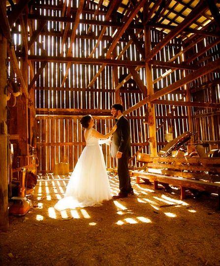 Wedding in a rickety house