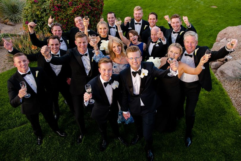 Cheers to the Groom's!