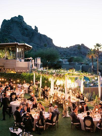 Nightfall outdoor dining