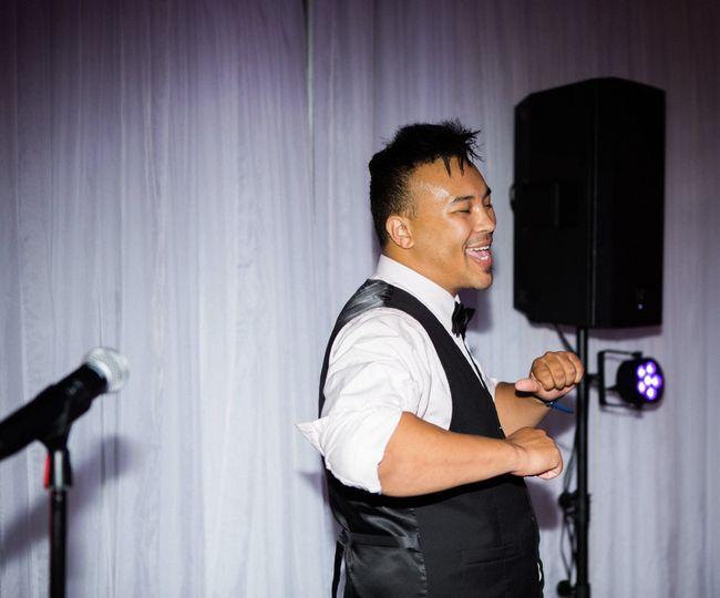 DJ Aeron always having fun!