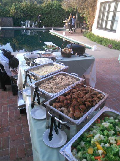 Buffet wedding setup