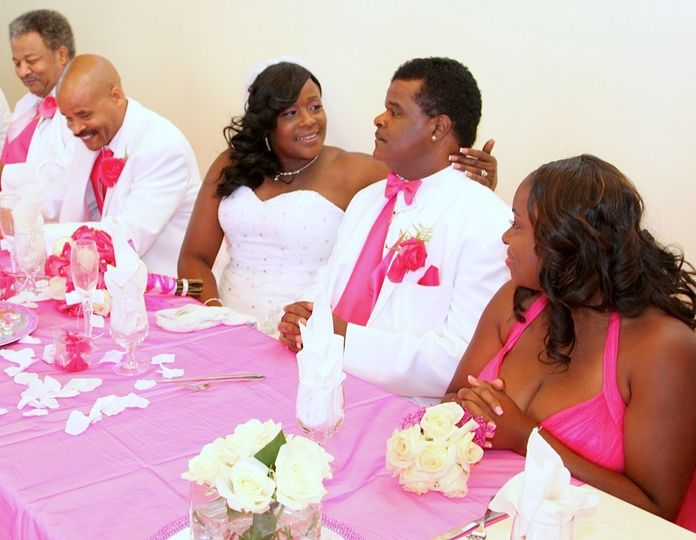 Bride and Grooms table