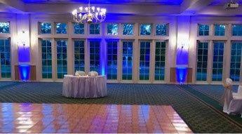 Blue uplighting
