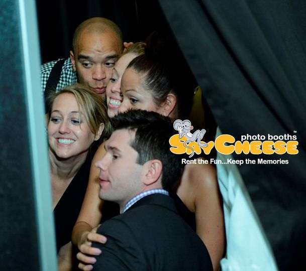say cheese photo booth at your wedding reception
