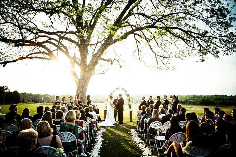 wedding sunset lander
