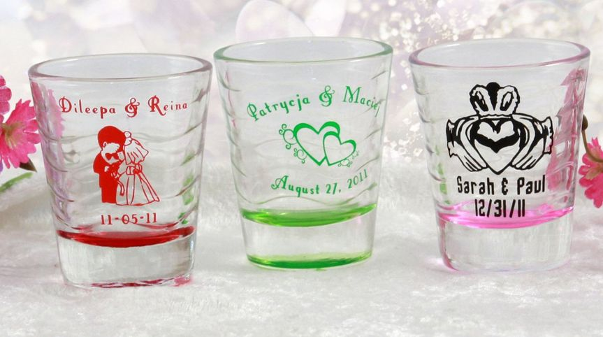 Waves shot glasses come in fun colors like pink, green, and red. They also add a touch of color to...