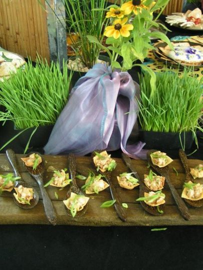 notice how our displays utilize interesting platters, lots of natural botanicals and wheatgrass.  We...